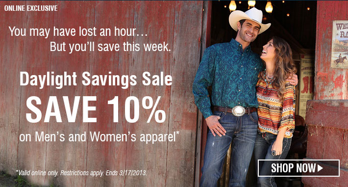 Save 10% on Men's and Women's Apparel