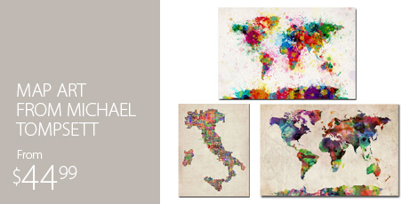 Map Art From Michael Tompsett