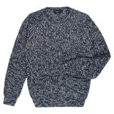 Paul Smith Knitwear - Navy And White Ribbed Jumper