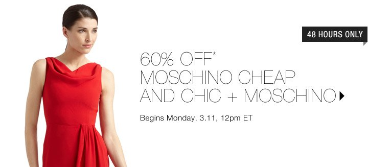 60% Off* Moschino Cheap And Chic + Moschino...Shop Now