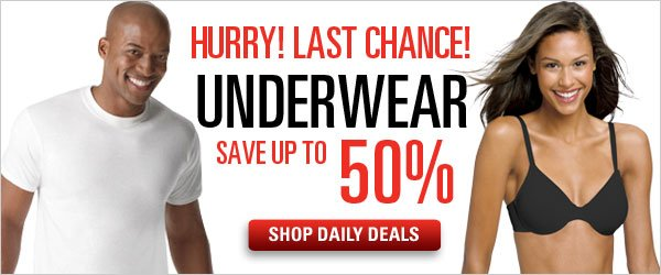 Save up to 50% on Underwear