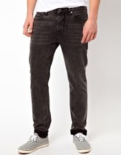ASOS Slim Jeans In Washed Black