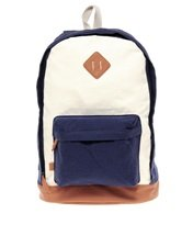 ASOS Contrast Canvas Backpack