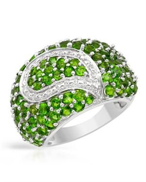 Ladies Tsavorite Garnet Ring Designed In 925 Sterling Silver $149