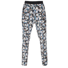 Paul Smith Trousers - Folded Floral Print Silk Trousers
