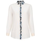 Paul Smith Shirts - Cream Contrast Placket Silk Shirt