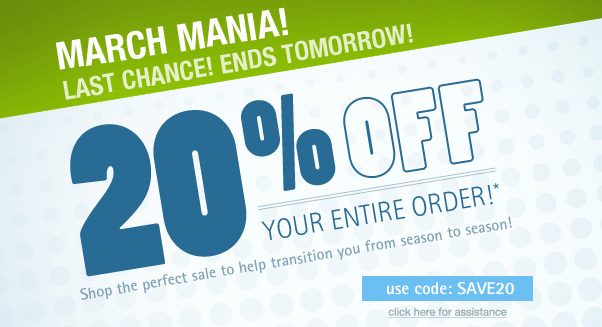 20% Off Ends Soon!