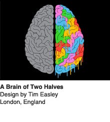 A Brain of Two Halves - Design by Tim Easley, London, England