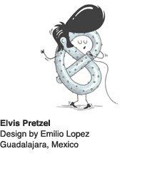 Elvis Pretzel - Design by Emilio Lopez, Guadalajara, Mexico