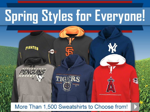 More Than 1,500 Sweatshirts to Choose From