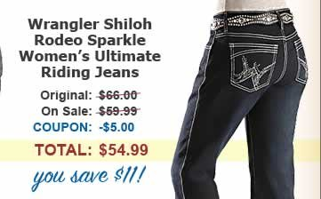 Women's Wrangler Shiloh Rodeo Sparkle Ultimate Riding Jeans, save $11