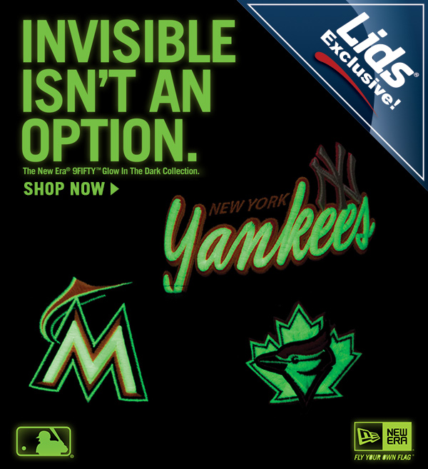 Invisible isn't an option. Shop the New Era® 59FIFTY® Glow in the Dark Collection.