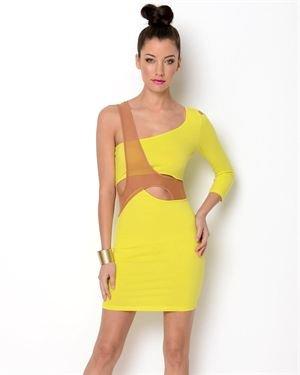 Blaque Market Neon Overlap Cut-Out Dress