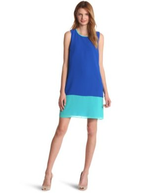 ERIN Erin Fetherston Chiffon Sleeveless Shift Dress