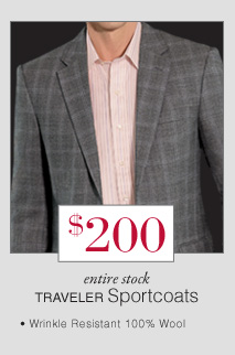 $200 USD - Traveler Sportcoats