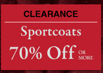Clearance Sportcoats - 70% Off or more