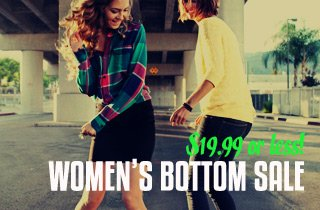 Women's Bottom Sale