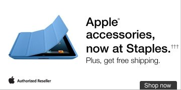 Apple  accessories, now at Staples.††† Get them shipped  fast and free. Apple Authorized Reseller. Shop now.