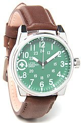 The Field & Research Watch in Silver & Green