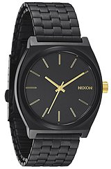 The Time Teller Watch in Matte Black & Gold