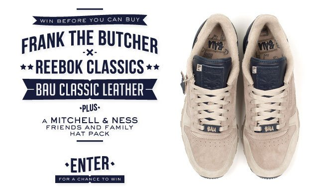 Win the Frank The Butcher x Reebok Classics 'BAU Classic Leather' Sneakers
