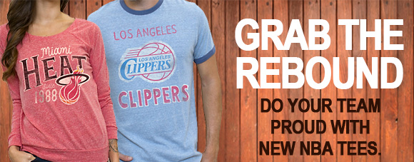 Grab the rebound. Do your team proud with these new NBA tees.
