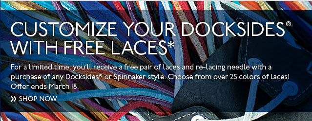 Customize Your Docksides with Free Laces
