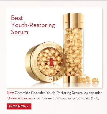 Best Youth-Restoring Serum. New Ceramide Capsules Youth Restoring Serum, 90 capsules. Online Exclusive! Free Ceramide Capsules & Compact (7-Pc). SHOP NOW.