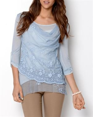 Tiziana Cervasio Draped Lace Blouse