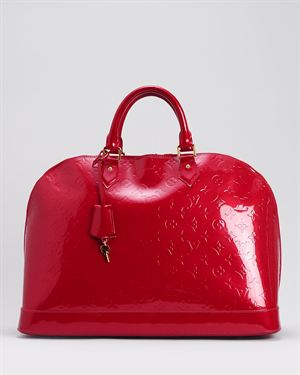Louis Vuitton LU Limited Edition Pomme D'Amour Monogram Vernis Alma GM Satchel
