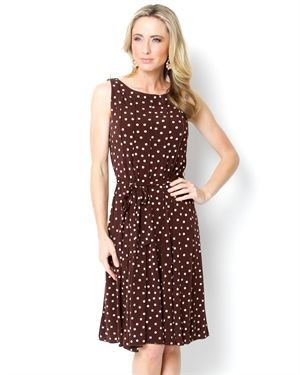 Harve Bernard Polka Dot A-Line Dress