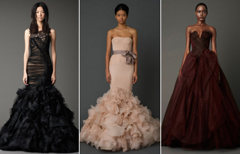 Vera Wang Colorful Wedding Dresses