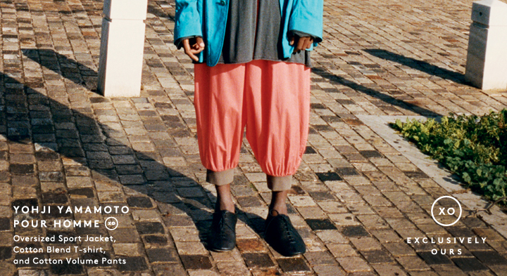 Currently craving color? Shop Yohji Yamamoto men's clothing.