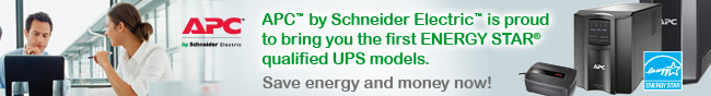 APC by Schneider Electric is proud to bring you the first ENERGY STAR qualified UPS models. Save energy and money now!