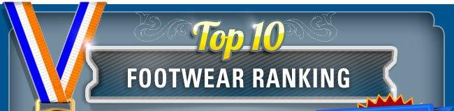 Top 10 Footwear Rankings