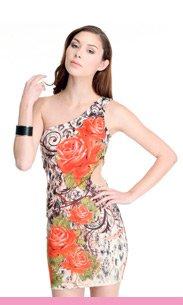 cut out floral dress