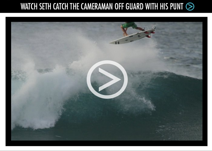 Watch Seth Catch the Cameraman Off Guard With His Punt