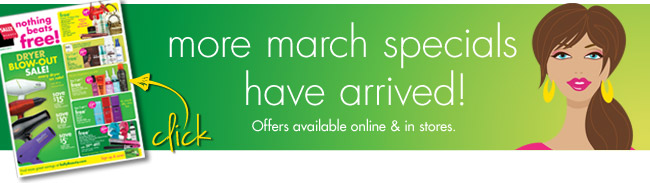 more march specials have arrived!