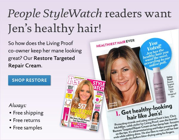 People's Style Watch readers want Jen's healthy hair!