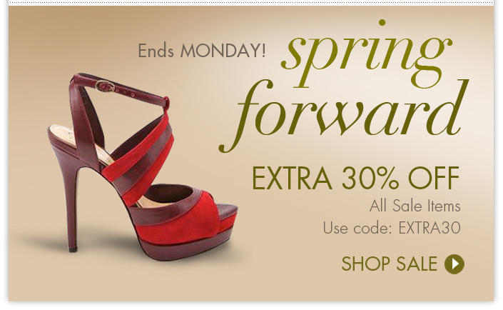 Enjoy an additional 30% OFF all Sale items now through Monday. Use code: EXTRA30