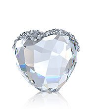 Love Heart Crystal medium