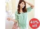 Tie-Neck Chiffon Top