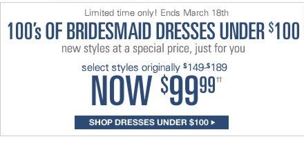 SHOP DRESSES UNDER $100