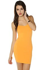 The Seamless Mini Slip in Mango