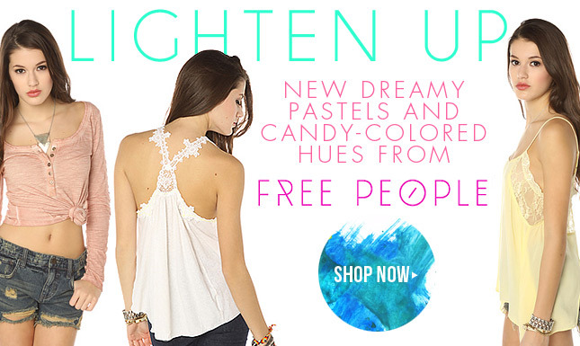All New Pastels and Candy Colored Hues from Free People!