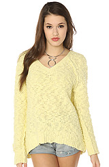 The Songbird Pullover in Lemon