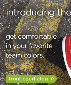 introducing the front court collection - get comfortable in your favorites team colors