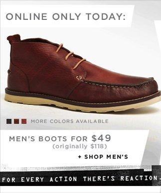 MEN'S BOOTS FOR $49 (originally $118) / SHOP MEN'S