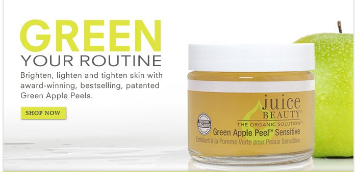 Green Your Routine with Green Apple Peel