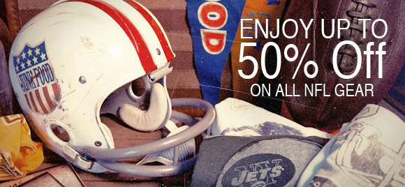 Enjoy up to 50% off all NFL gear.